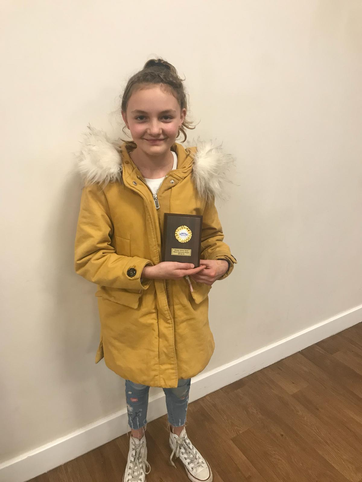 Most Improved Junior Tuesday Team - Aimee Buzzing