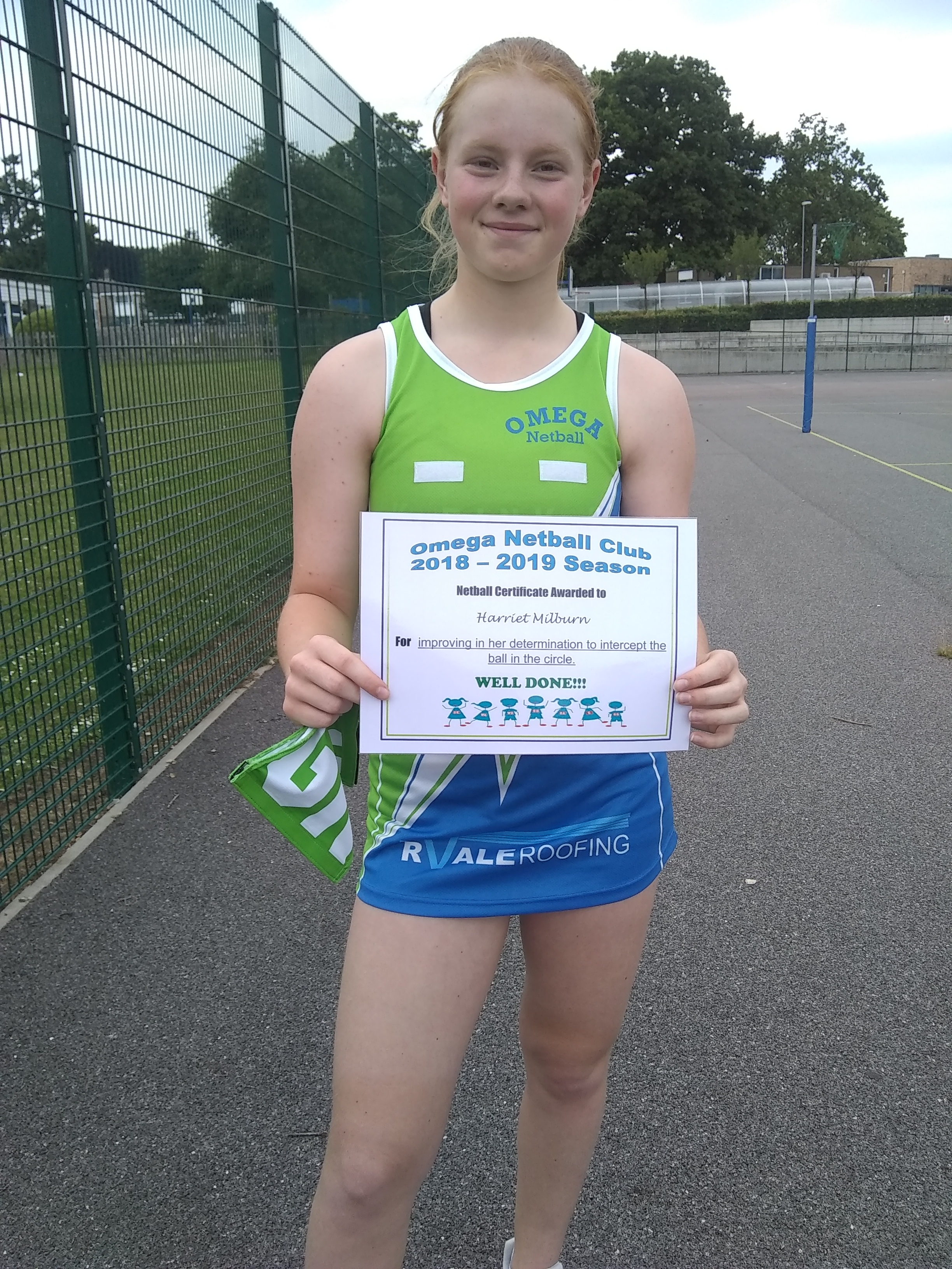 Harriet Milbourn - Acheivement award 2019